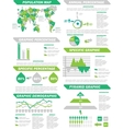 INFOGRAPHIC DEMOGRAPHIC ELEMENTS NEW GREEN vector image vector image