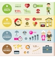 Insurance infographic banners vector image vector image