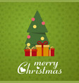 merry christmas gift item background vector image