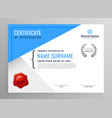 modern blue certificate of appreciation design vector image vector image
