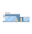 modern city mall supermarket building flat vector image