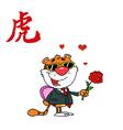 New years tiger cartoon vector image vector image