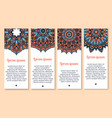 paisley pattern ornament banners set vector image
