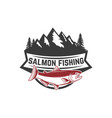 salmon fishing salmon on background with vector image vector image