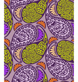 Seamless paisley and floral pattern vector image vector image