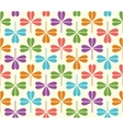 seamless Pattern with colorful clover vector image