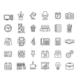set business icons internet marketing vector image