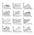 set hand drawn charts diagrams graphs