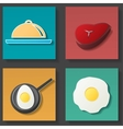 Set of food icon vector image vector image