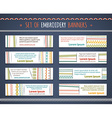 Set of horizontal textile banners vector image vector image