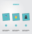 set of memorial icons flat style symbols with vector image vector image