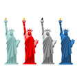 Statue of Liberty Colorful attraction in America vector image vector image