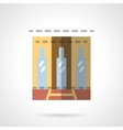 Storefronts flat icon Business center vector image
