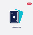 two color diamond ace icon from entertainment vector image vector image