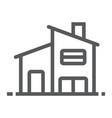 Two storey house line icon real estate and home vector image