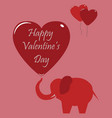 valentines day celebration card vector image vector image