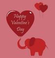 valentines day celebration card vector image