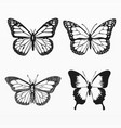 variety butterfly silhouette set vector image vector image