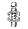 vintage monochrome barbershop emblem vector image vector image