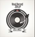 vinyl record retro vintage laurel wreath badge 3 vector image vector image
