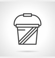 whey protein simple line icon vector image vector image