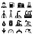oil and petroleum icon set vector image