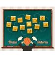 Concept Brainstorm Man and Blackboard vector image