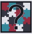 puzzle with question mark vector image