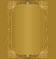 elegant unusual golden background with golden vector image