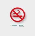 logo no smoking vector image