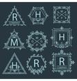 Set Ornament logo vector image