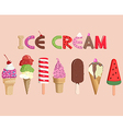 Ice cream set vector image