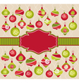 abstract christmas lovely cute frame vector image vector image