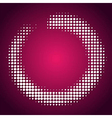 abstract pink-white halftone background vector image vector image