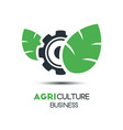 agriculture logo template icon design two leaf vector image vector image