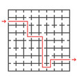an unusual square labyrinth developmental game vector image vector image