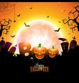 boo happy halloween design with typography vector image