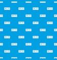 brick wall pattern seamless blue vector image