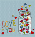 bright hearts for valentines day vector image vector image