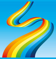 bright rainbow ribbon vector image vector image