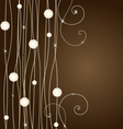 brown background with flowers vector image vector image