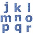 bubble alphabet - part 2 vector image vector image