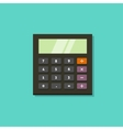 Calculator icon isolated on green vector image vector image