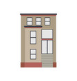 Cartoon historical brown building icon highly