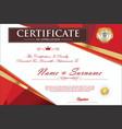 certificate retro design template 2 vector image vector image