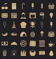 chocolate icons set simple style vector image vector image