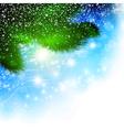 christmas pine tree vector image vector image