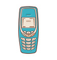 classic mobile phones popular vintage cell phone vector image vector image