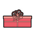 cute christmas gift cartoon vector image vector image