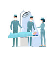 doctors and nurse in operation vector image vector image